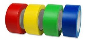 Taśma samoprzylepna niebieska,czerwona,zielona,czarna,biała 33m/10cm