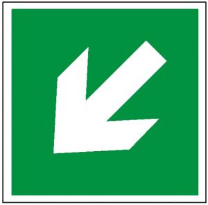 Znak kierunek drogi ewakuacyjnej 113 (F.F.) 150x150