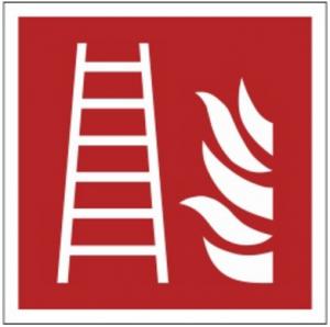 Znak drabina pożarowa F03 (PZ) 150x150