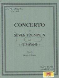 Altenburg Johann Ernst: Concerto for seven trumpets and timpani