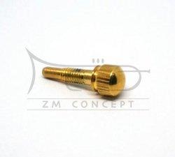ZMC Śrubka ogranicznika krąglika 3 wentyla trąbki STOMVI pozłacana, ZMC746