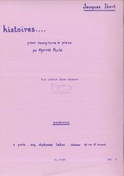 Ibert, Jacques, Histoires No2: Le petit âne blanc: na saksofon altowy i fortepian