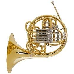 ALEXANDER waltornia podwójna 103GAL HG, złoty mosiądz, odkręcana czara, kuty dźwięcznik, lakierowana, bez futerału
