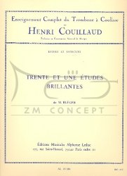 Couillaud Henri: Trente et Une Etudes Brillantes -Trombone a Coulisse (puzon suwakowy)