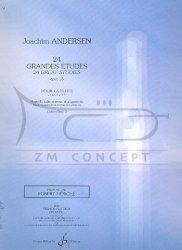 Andersen, Joachim: 24 grandes études op.15 vol.2 (nos.12 - 24): na flet