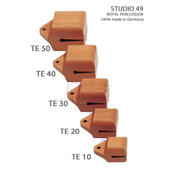 STUDIO49 Concert temple block, model TE40, 14cm, ręcznie produkowane