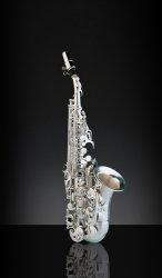 RAMPONE&CAZZANI saksofon sopranowy R1 JAZZ, 2004/J/AG, zagięty, Vintage Silver