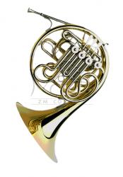 PAXMAN waltornia F/B model 20 LYDM, full double horn, menzura L, Yellow brass, rozkręcana czara, popychacze ze sprzęgłem kulkowym, bez futerału