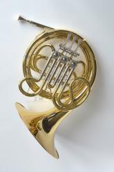 PAXMAN waltornia F model Primo, lakierowana, rozmiar 3/4, yellow brass, z futerałem