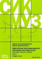 Schostakowitsch, Dimitri: Preludium i Scherzo op. 11: na oktet smyczkowy, komplet głosów