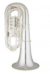 ANDREAS EASTMAN tuba F EBF866S, PROFESSIONAL, 4/4, 4 wentyle obrotowe, posrebrzana, z futerałem