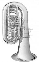 B&S tuba C Perantucci 3098-2-0GB PT-6, posrebrzana, 5 wentyli obrotowych, z futerałem gig bag