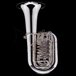 WESSEX tuba C Mahler model TC470S posrebrzana, 4/4, wentyle obrotowe, z futerałem