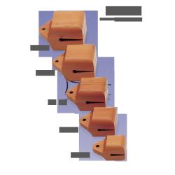 STUDIO49 Concert temple block, model TE50, 15cm, ręcznie produkowane