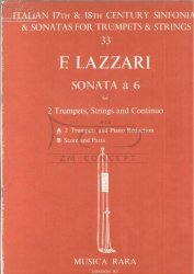 Lazzari Ferdinando Antonio.: Sonata a 6 (for 2 Trumpets, Strings and BC) - wyciąg fortepianowy
