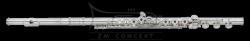 AMADEUS by HAYNES flet AF680SE-BO; posrebrzany, srebrna głowa, otwarte klapy, G offset, E-mechanika, stopa H, z futerałem