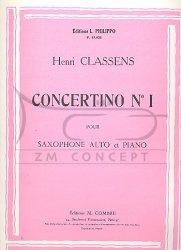 Classens, Henri: Concertino Nr. 1 op .85,1: na saksofon altowy i fortepian