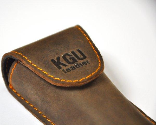 KGU pokrowiec na ustnik do trąbki pojedynczy skórzany brązowy