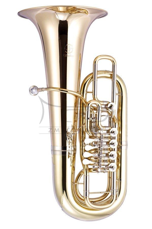 JOHN PACKER Tuba F JP379FF Sterling, Gold Lacquer, złoty lakier, 5 wentyli obrotowych, z futerałem