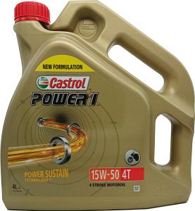 CASTROL Power 1 4T, API SN, JASO MA-2, 15W-50 4L