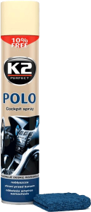 K2 POLO COCKPIT WANILIA + MIKROFIBRA 750ml do kokpitu