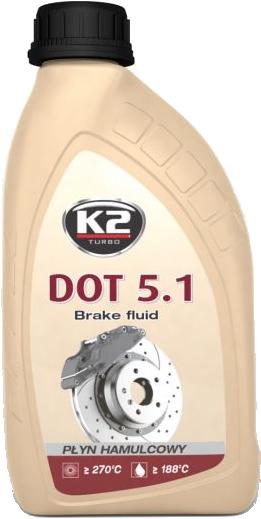 K2 T105 Płyn hamulcowy DOT5.1 500g
