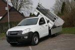 Kipper ISUZU DMAX II Extended Cab  Kabina pojedyncza+1/2 Pojedyncze koło Rozstwa osi 3095 Wymiary wennętrzne 2000x1835mm