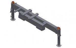 Rama podporowa 2 Hydrauliczne nogi  Obracane ,Manualny wysuw 3300mm