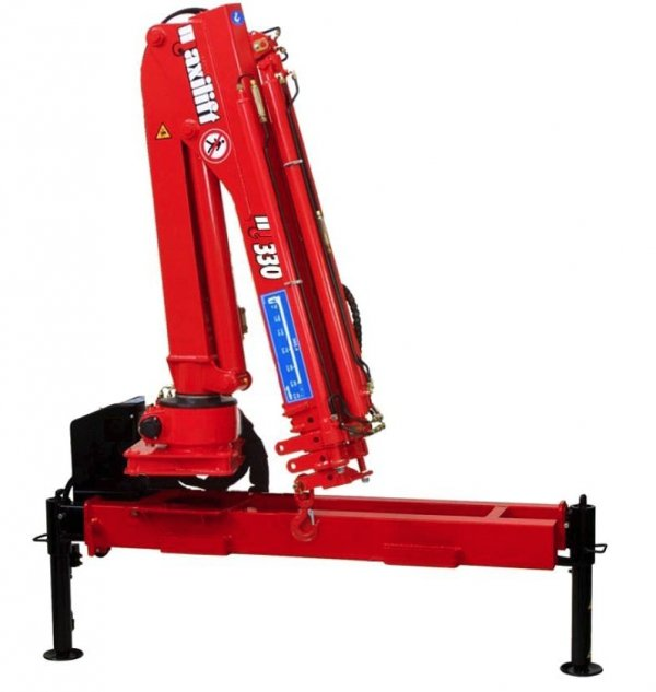 Żuraw Maxilift ML330.2 D  E 12V  + rama podporowa + 2 nogi Hydrauliczne