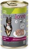 Nutrilove Dog Premium Pyszny pasztet dla psa z jagnięciny 12x400g
