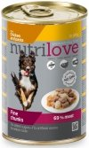 Nutrilove Dog Premium Z kurczakiem i makaronem w pysznej galaretce 12x415g