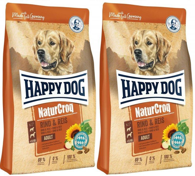 Happy Dog NaturCroq Wołowina i ryż 2x15kg (30kg)