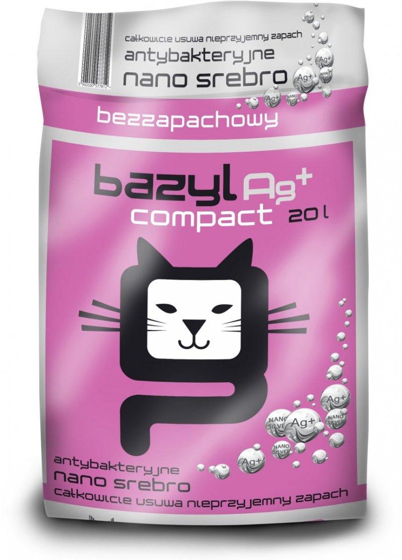 Bazyl Ag+ Compact - żwirek z nanosrebrem 20l