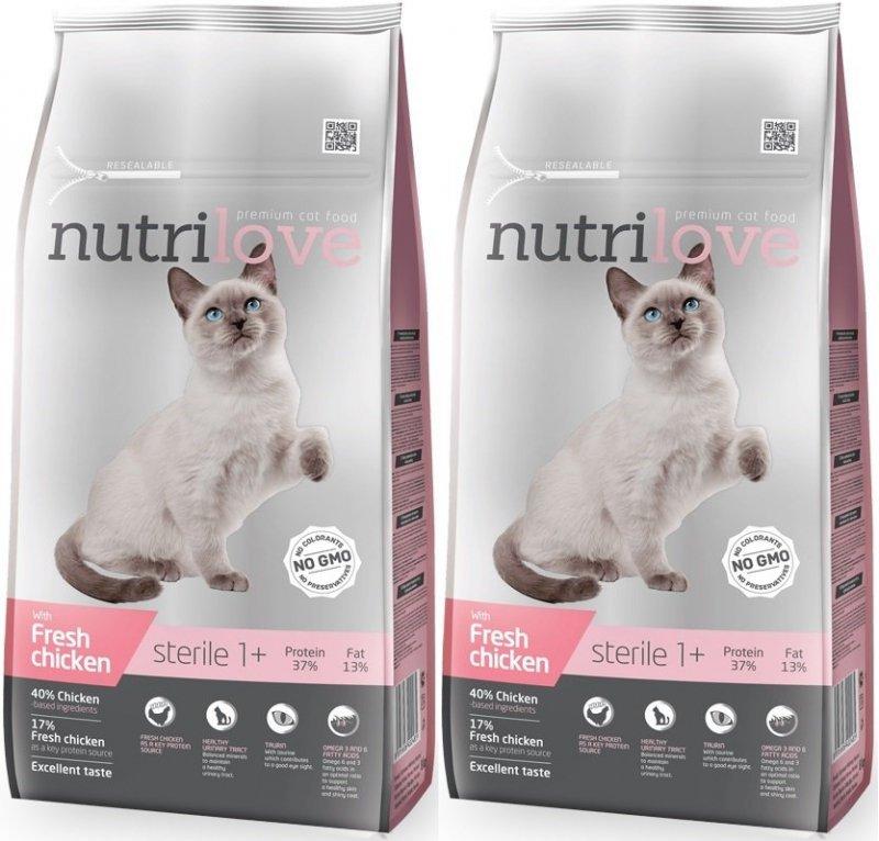 Nutrilove Premium Sterile ze świeżym kurczakiem 3x7kg