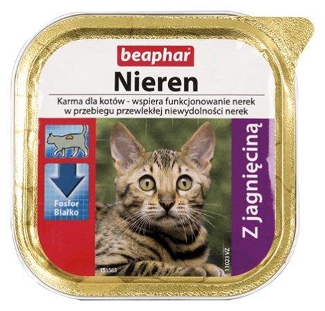 Beaphar Nieren Z jagnięciną dla kotów z niewydolnością nerek 100g