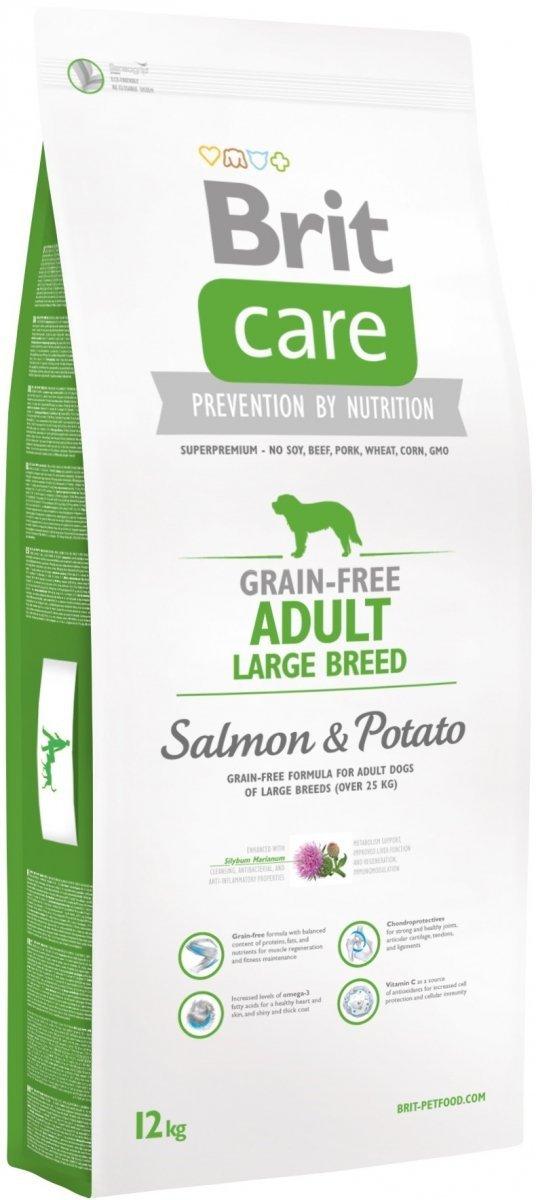 Brit Care Grain Free Adult Large Breed Salmon 34% & Potato 12kg
