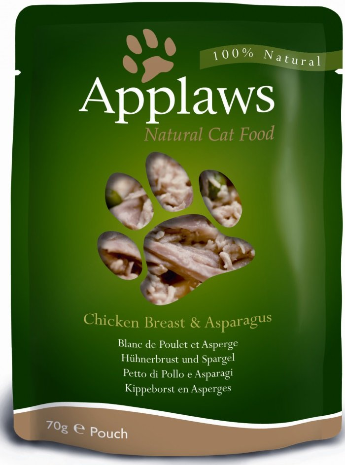 Applaws saszetka dla kotów Kurczak & Szparagi 12x70g