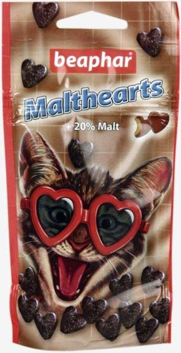 Beaphar MaltHearts przysmak z 20% zawartością ekstraktu słodowego 52,5g