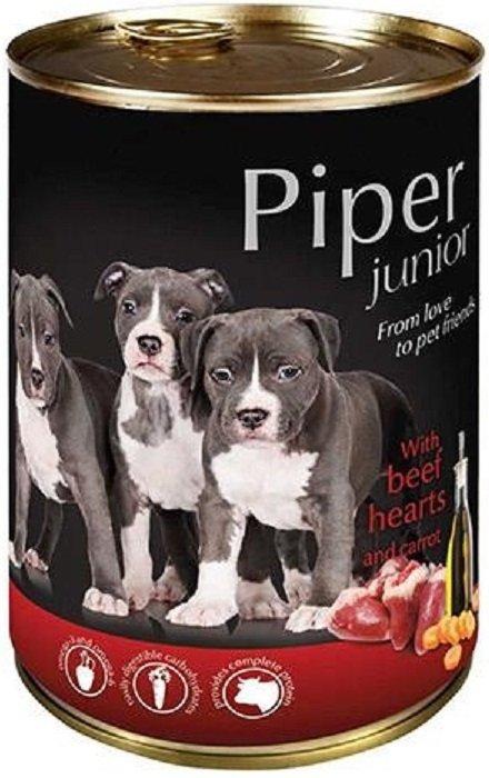 Piper Junior z sercami wołowymi i marchewką 24x400g