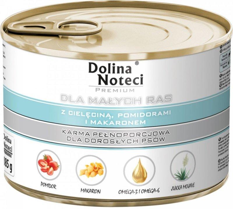Dolina Noteci Premium Dla małych ras Z cielęciną, pomidorem i makaronem 12x185g