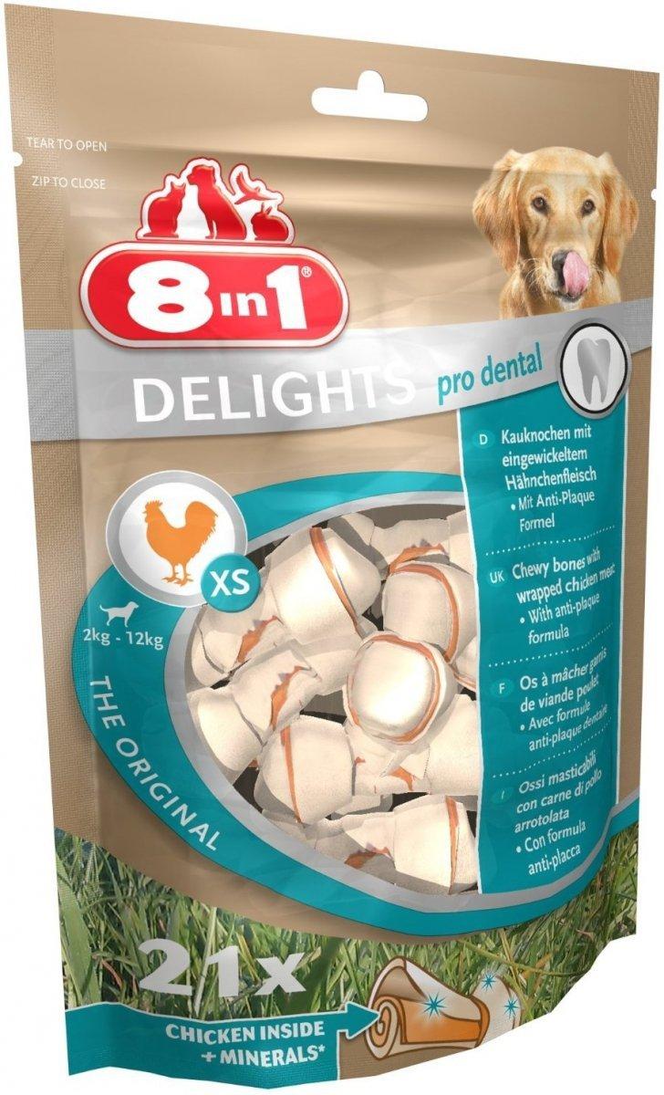 Przysmak 8in1 Dental Delights Bones XS 21 szt.