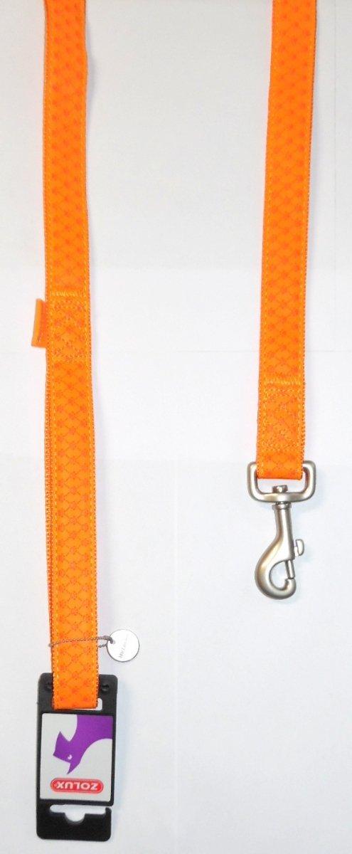 Smycz Mac Leather 10mm/1,2m pomarańczowa