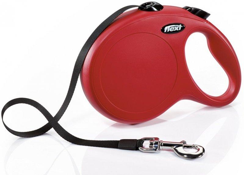 Flexi New Classic taśma L 8m czerwona - smycz automatyczna