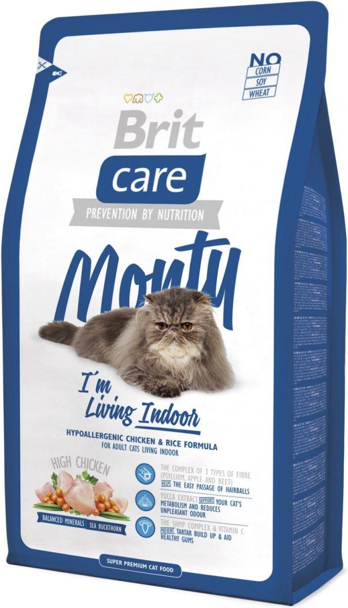Brit Care Cat Monty I'm Living Indoor Kurczak Ryż 2kg