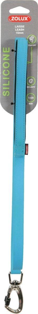 Zolux Smycz silikonowa - niebieska 1,2m/15mm