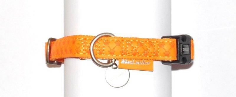 Obroza regulowana Mac Leather 15mm pomarańczowa