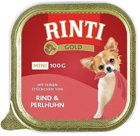 Rinti Gold Mini Wołowina i Perliczka 8x100g