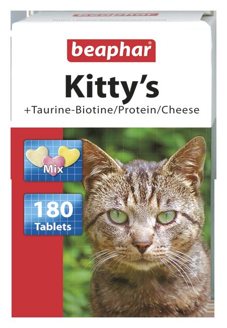 Beaphar Kitty's Mix - przysmak dla kotów z dodatkiem tauryny- biotyny/protein/sera 180szt