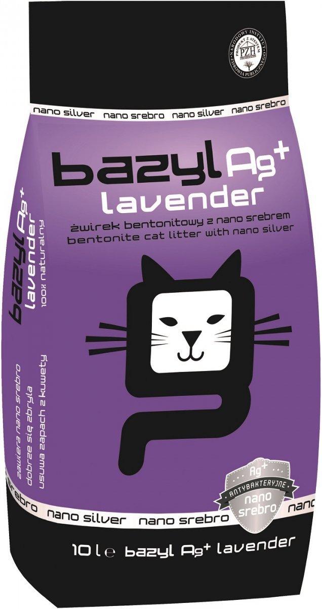 Bazyl Ag+ Lavender - żwirek z nanosrebrem, lawendowy 10l