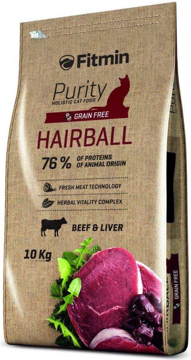 Fitmin Purity Hairball - karma dla kotów dorosłych i długowłosych 10kg